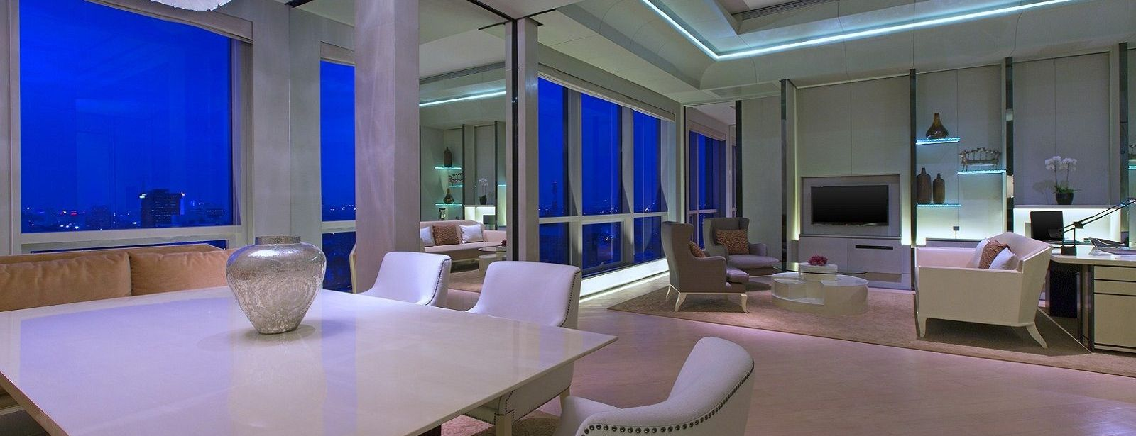 Suite Living Room in Twilight